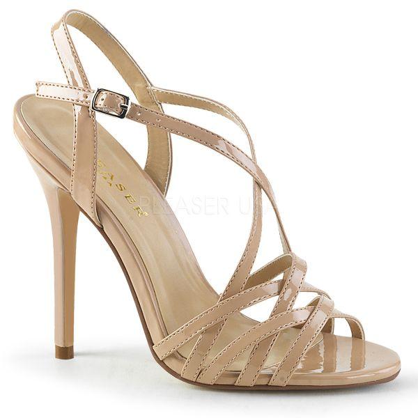 High Heel Sandalette nude Lack AMUSE-13